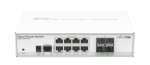 MikroTik Cloud Router Switch 112-8G-4S-IN with QCA8511 400Mhz CPU, 128MB RAM, 8xGigabit LAN, 4xSFP, RouterOS L5, desktop case, PSU