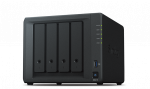Synology QC1,4GhzCPU/2GB/RAID0,1,10,5,6/up to 4HDDs SATA(3,5' or 2,5')/2xUSB3.0/2GigEth/iSCSI/2xIPcam(up to 30)/1xPS/2YW repl DS416